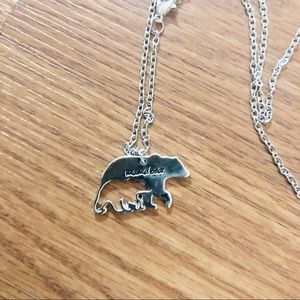 MAMA BEAR STAMPED NECKLACE 🐻